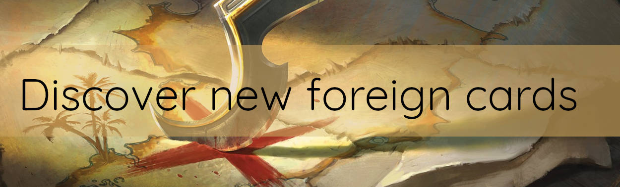 Magic the Gathering foreign card sale news header