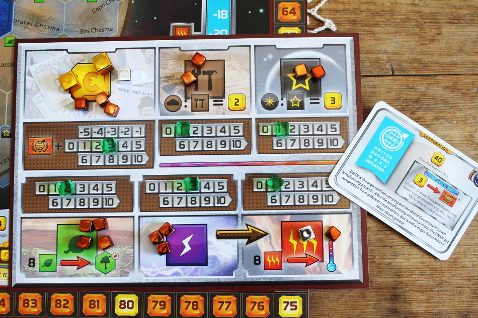 Terraforming Mars Resource Board