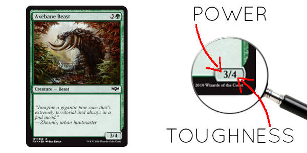 Magic creaturen power ja toughness