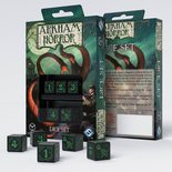 Arkham Horror Dice Set, Black & Green (5pcs)