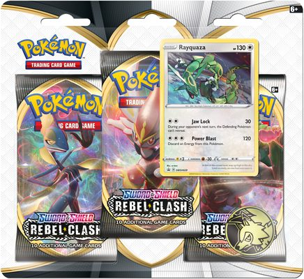 Pokemon SS2: Rebel Clash 3-pack Blister Rayquaza