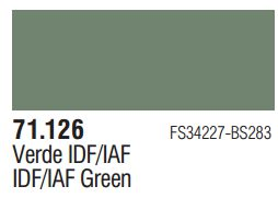 Vallejo Model Air: IDF Green 71.126