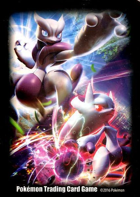 Pokemon Sleeves Mega Mewtwo X and Mega Mewtwo Y (65pcs)