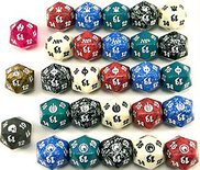 Spindown Lifecounter, Dice D20, (Varying colors)