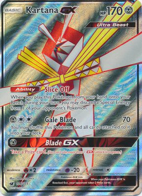 Kartana GX Full Art 106/111 - Sun & Moon Crimson Invasion