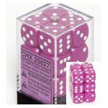 Chessex Dice Set 12xD6 16mm, Opaque Light Purple with White Pips