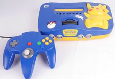 Nintendo 64 Console (N64) Pikachu Edition With Blue Controller