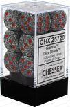 Chessex Dice Set 12xD6 16mm, Granite