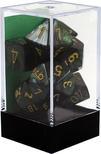 Chessex Mixed Dice Set 7x Various Sizes, Scarab Jade with Gold Pips
