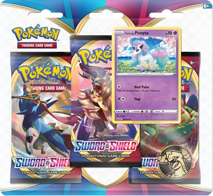 Pokemon SWSH1: Sword & Shield 3-pack Blister Galarian Ponyta