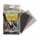 Dragon Shield Sleeves Perfect Fit Clear/Smoke (100ct, same as Perfect Size)