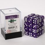 Blackfire Dice Cube, 36x 12mm D6, Marbled Purple with White