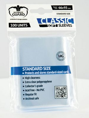 Ultimate Guard Classic Soft Sleeves Clear (100pcs)