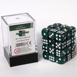 Blackfire Dice Cube, 36x 12mm D6, Marbled Dark Green