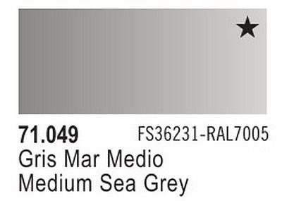 Vallejo Model Air: Medium Sea Grey 71.049