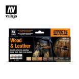 Vallejo Model Color Wood and Leather Paint Set 70.182