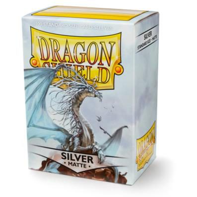 Dragon Shield Sleeves Standard Size Matte Silver (100ct)