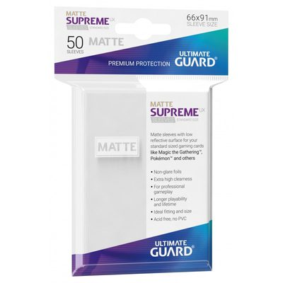 Ultimate Guard Supreme UX Matte Sleeves White (50pcs)