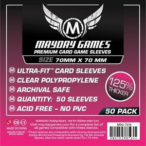 Mayday Games Boardgame Sleeves 70x70 mm (50 pcs)