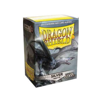 Dragon Shield Sleeves Standard Size Matte Silver Non-Glare (100ct)