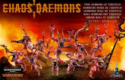 Chaos Daemons Pink Horrors of Tzeentch
