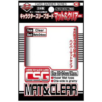 KMC Standard Sleeves Character Sleeve Guard Clear Mat & Clear (60ct, same as Sleeve Cover)