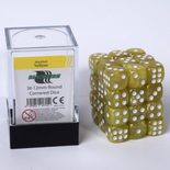 Blackfire Dice Cube, 36x 12mm D6, Marbled Yellow)