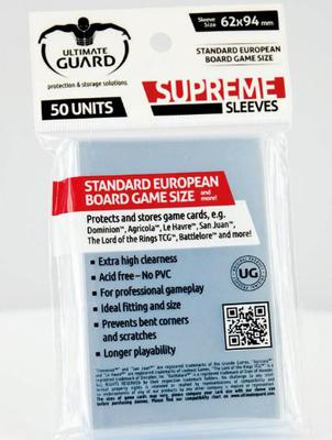 Ultimate Guard Supreme Standard European Boardgame Sleeves 62x94mm (50pcs)