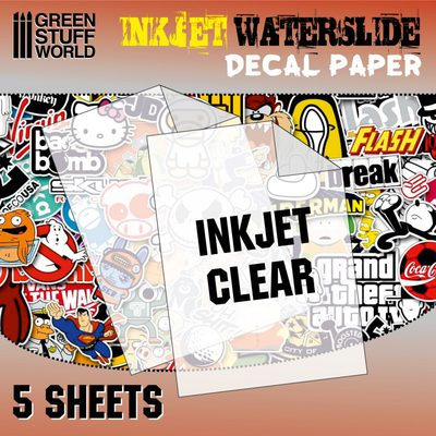 GSW Waterslide Decals: Inkjet Transparent A4 (5pcs)