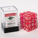 Blackfire Dice Cube, 36x 12mm D6, Transparent Watermelon Red