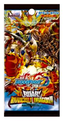 Future Card Buddyfight Triple D Pack Vol. 2: Roar! Invincible Dragon!! Booster