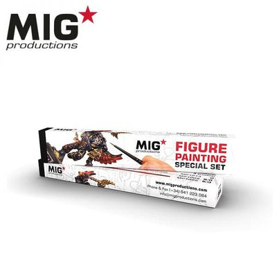 MIG Figure Painting Special Set (0, 5/0, 9/0)