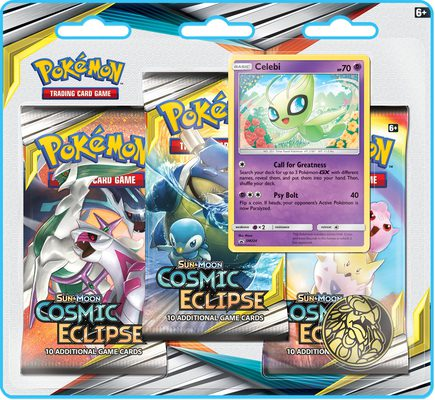 Pokemon SM12: Sun & Moon Cosmic Eclipse 3-pack Blister Celebi