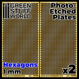 GSW Photo-etched Plates: Large Hexagons 1mm