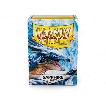 Dragon Shield Sleeves Standard Size Matte Sapphire (100ct)