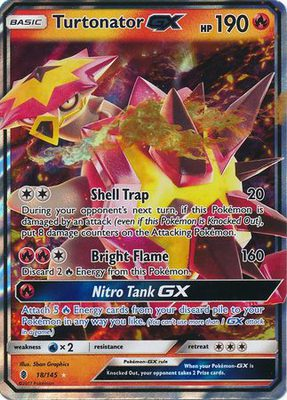 Turtonator GX 18/145 - Sun & Moon Guardians Rising