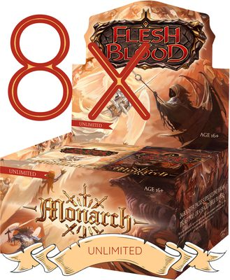 Flesh and Blood TCG Monarch UNLIMITED Edition Double Booster Case (8x Display) (PREORDER)