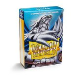 Dragon Shield Small Sleeves Silver Matte (60ct)