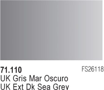 Vallejo Model Air: UK EXT DK Sea Grey 71.110