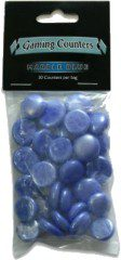 Dragon Shield Glass Beads, Marble Blue