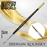 GSW Gold Series Siberian Kolinsky Brush: Size 1
