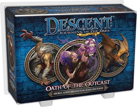 Descent (2nd Ed): Oath of the Outcast Hero and Monster Collection