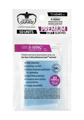 Ultimate Guard Premium Soft Board Game Sleeves, X-Wing (43x65mm, 50pcs)