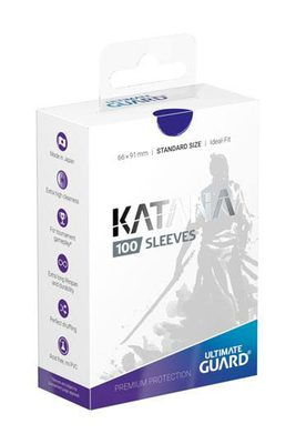 Ultimate Guard Katana Sleeves Standard Size Blue (100ct)