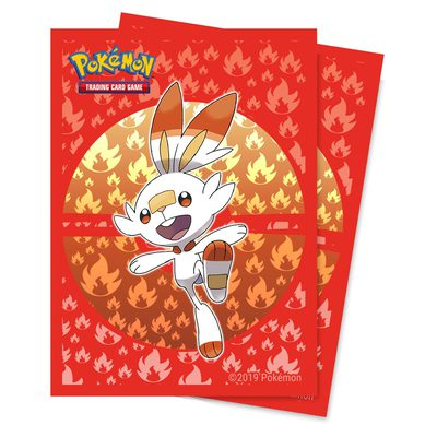 Ultra Pro Pokemon Deck Protector Sleeves Sword & Shield Galar Starters Scorbunny (65ct)