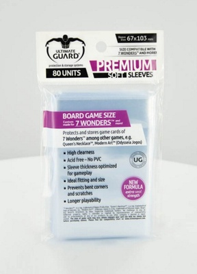 Ultimate Guard Premium Soft American Board Game Sleeves 59x91.5 (60pcs)