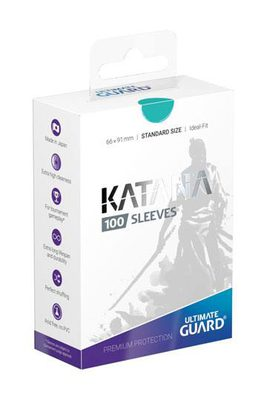 Ultimate Guard Katana Sleeves Standard Size Turquoise (100ct)