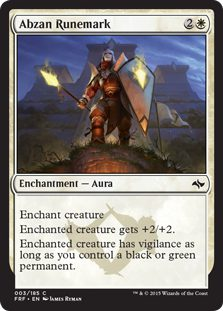 Abzan Runemark - Fate Reforged