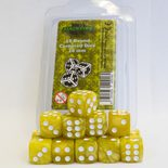 Blackfire Dice Set (15xD6 16mm, Marbled Yellow)
