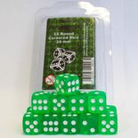 Blackfire Dice Set (15xD6 16mm, Transparent Light Green)